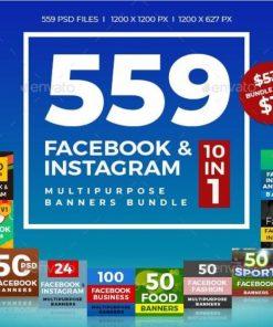 559 Facebook & Instagram Banner Bundle