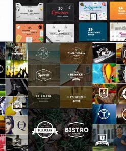 2756 logos templates Premade Branding Logo Bundle vector enveto market
